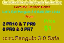 Get Manual Penguin Safe 28 PR9, PR8, PR7, PR6 Social Profile Backlinks