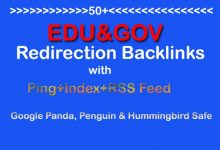 Make 50+ Edu and Gov Redirection Backlinks with Ping+Index+RSS Feed