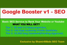 Google Booster v1 – 10,130 Premium Backlinks to Boost Rank Your Website or Youtube