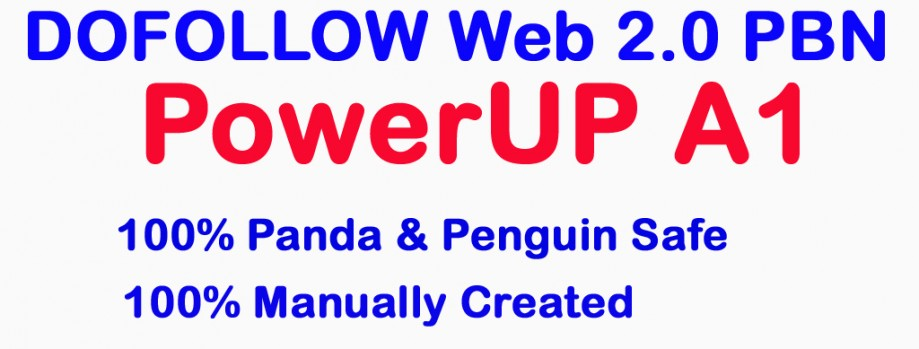 PowerUP A1 – PBN – Build 30 DOFOLLOW Web 2.0 Private Blog Network To Increase Ranking